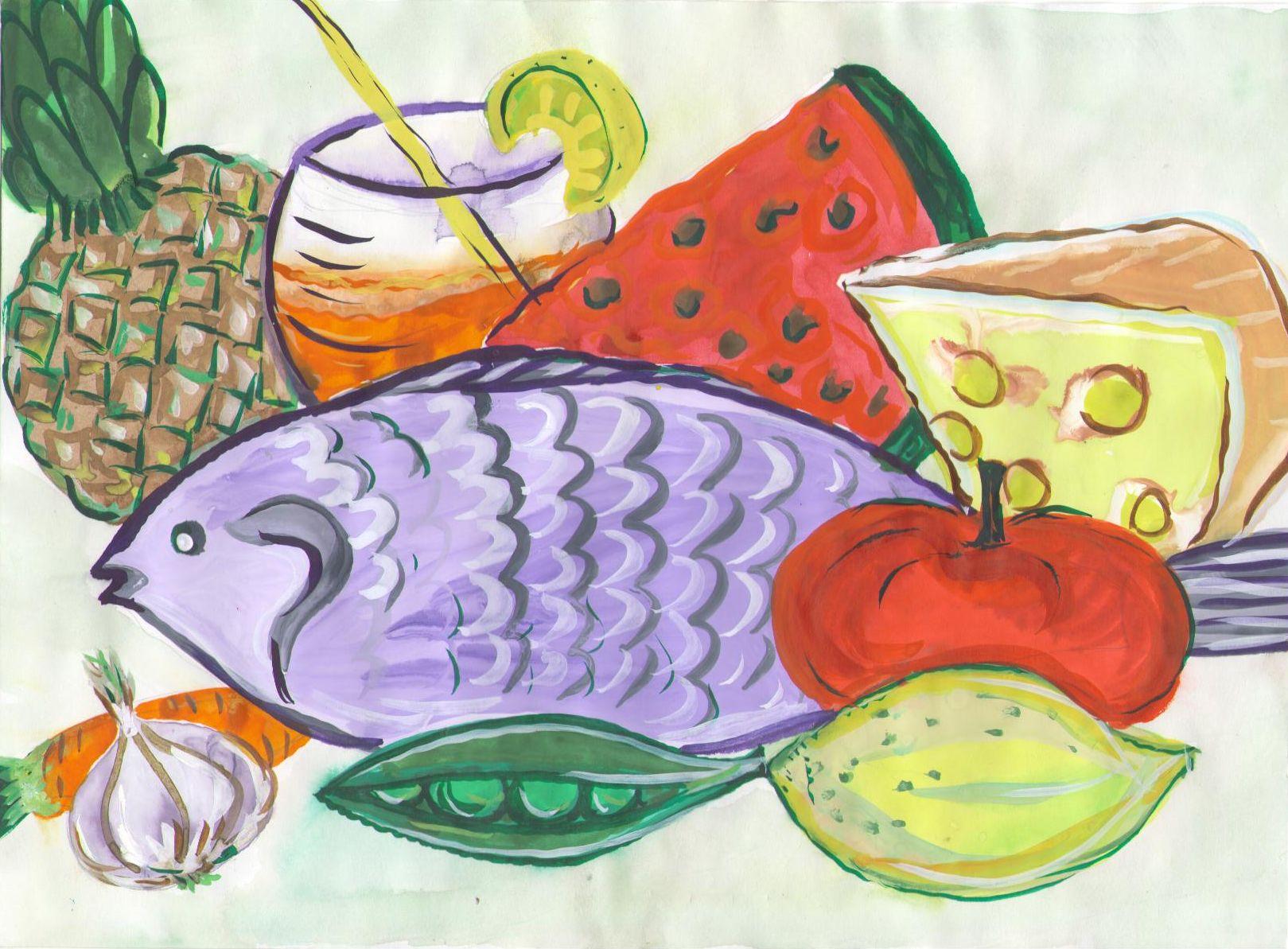 Рисунок на тему питание